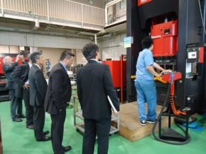ドイツの金属加工業メーカー様による工場見学